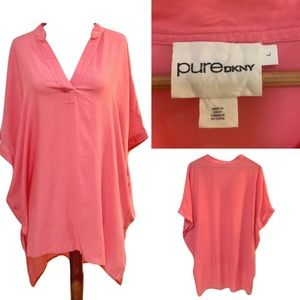Pure DKNY | Womens Pink Loose Fit Top L